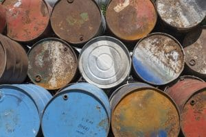 empty rusted barrels 1