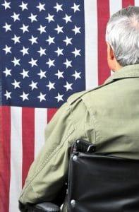 Veteran in wheelchair