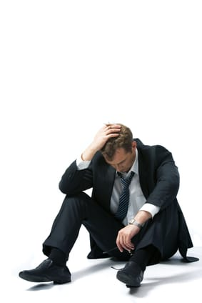 Unemployed businessman suffering from depression