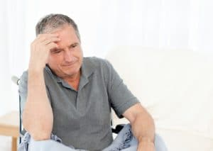 Senior man in wheelchair disability medicare